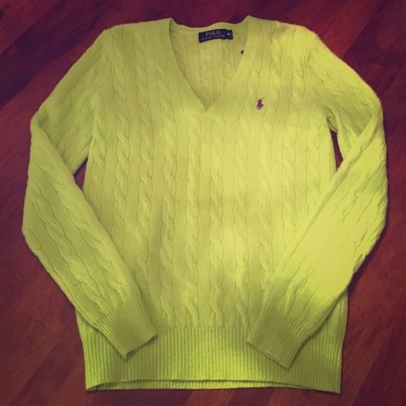 Cashmere Ralph Lauren Polo sweater NWT | D, Ralph lauren and Limes