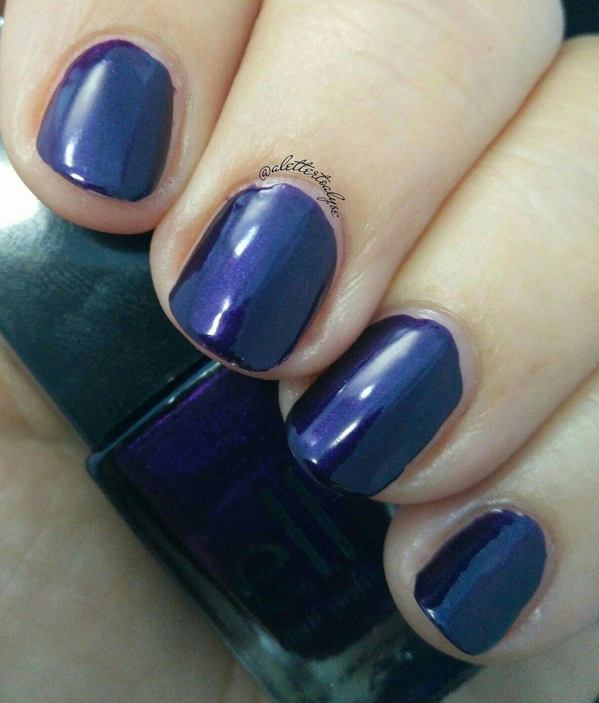 """e.l.f. Nail Polish """"Violet Velvet"""" Velvet, Swatch, Nail Polish, Nail Polishes"""