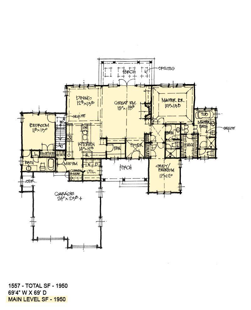 House Plan 1557 Rustic One Story Bonus Room Design House Plans One Story House Plans