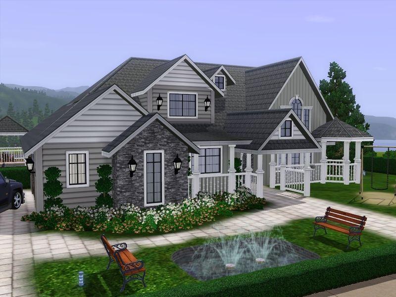 Gabi89 S Villa Lora Sims House Design Sims House Plans Sims House