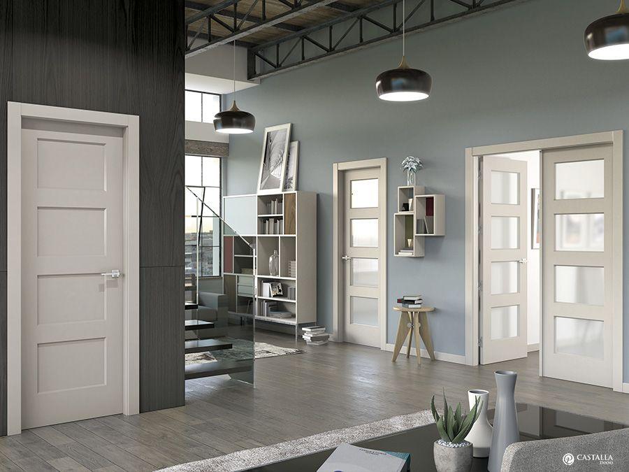 Inspiracin interiorismo y decoracin Puerta interior blanca