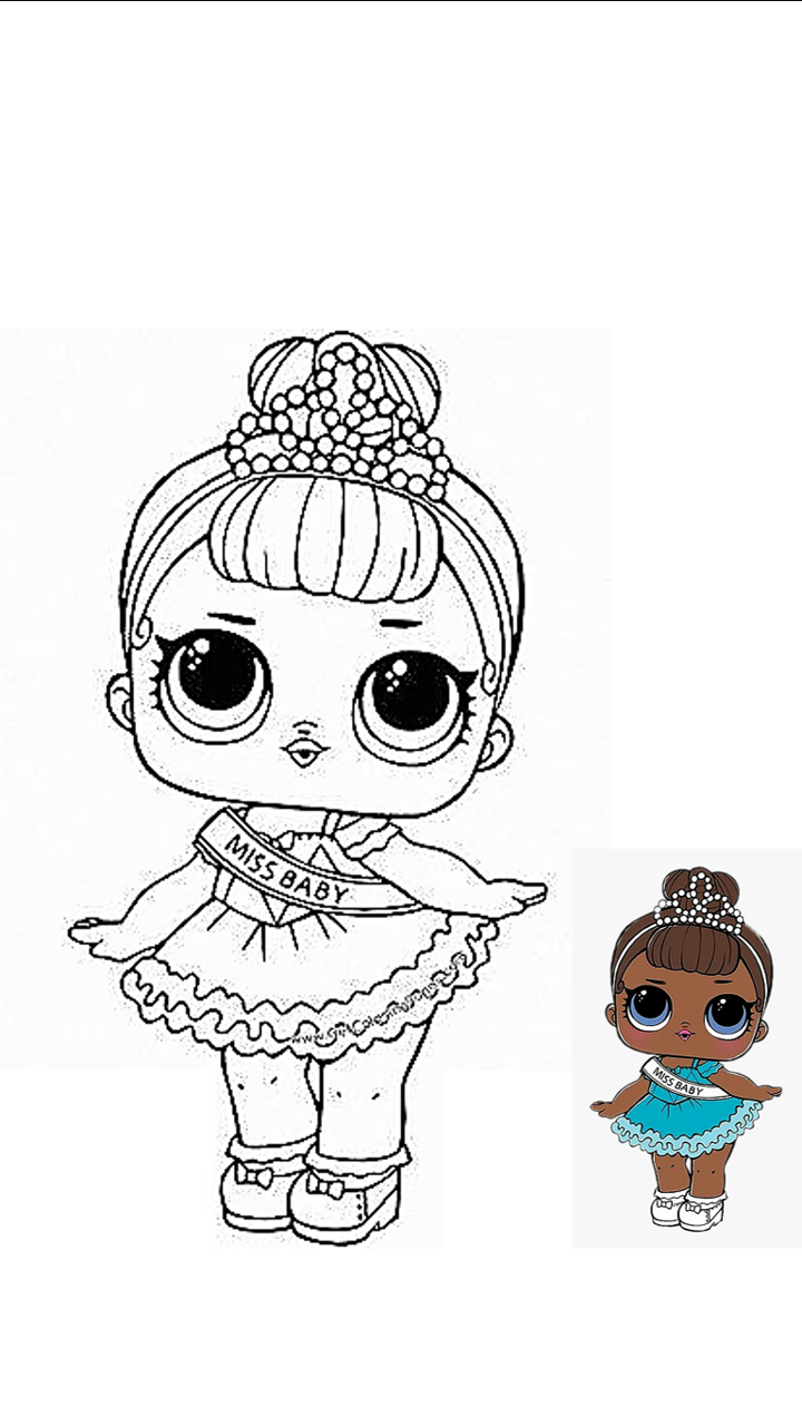 Lol Miss Baby Para Colorear Lol Dolls Lol Doll Cake Coloring Pages For Kids