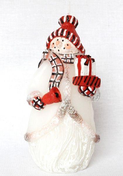 Snehuliak s darčekom - červený - mení farbu