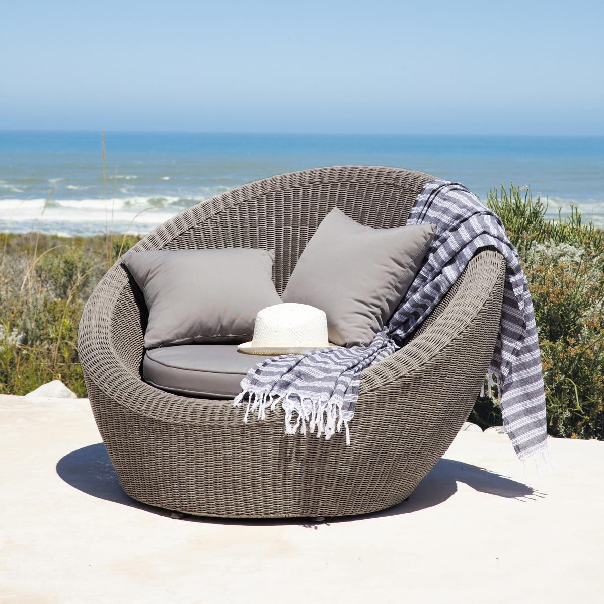 Gartenstühle rattan rund  Gartensessel rund hellgrau CAPE TOWN | sunrooms and covered ...