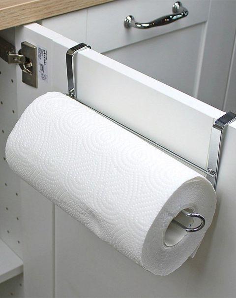 Cabinet Paper Towel Trash Bag Holder Kitchen Organizer Rack Hanging Shelf Organizer Paper Towel Holder