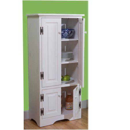 Versatile Wood 4 Door Floor Cabinet Multiple Colors Wood Storage Cabinets Tall Kitchen Storage Tall Cabinet Storage Storage cabinet with doors and shelves