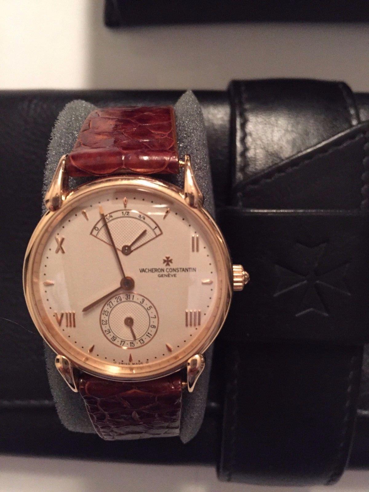 Vacheron Constantin Les Historiques Power Reserve 18k Rose Gold Ref 48100 Vacheron Constantin Rose Gold Watch Gold Watch