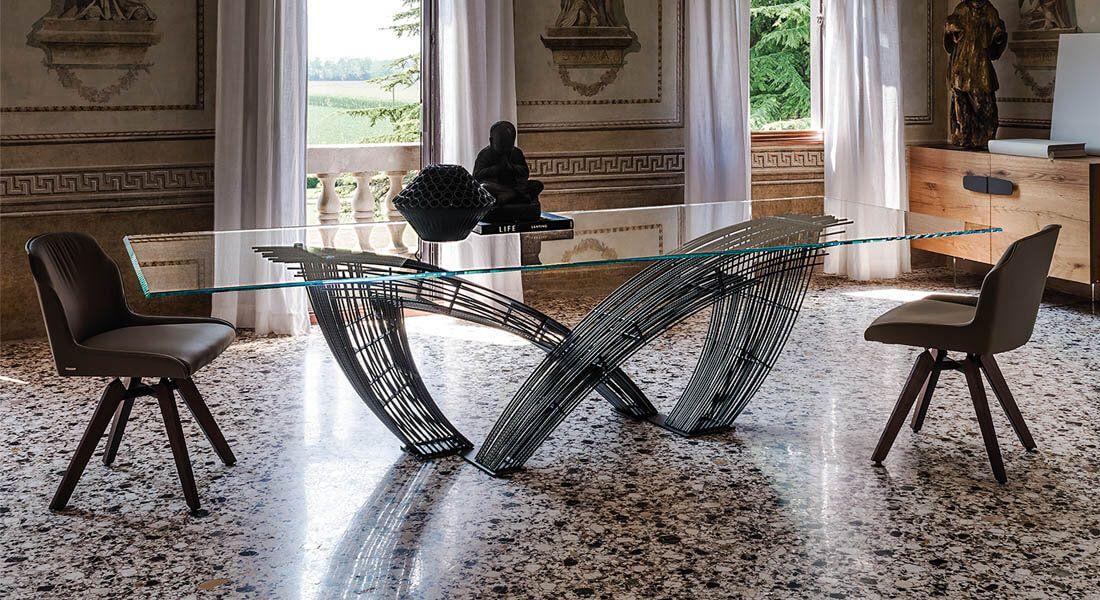 Table Verre Et Metal Style Contemporain Table En Verre Mobilier