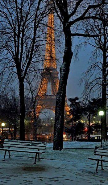Paris under the snow, France