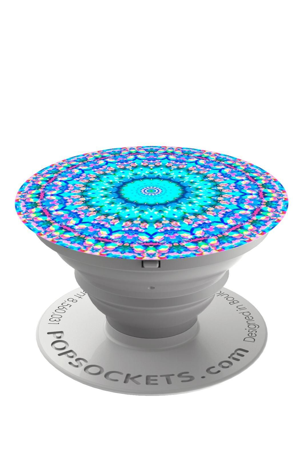 571116f3f7bc83 Popsockets Arabesque design is a blue mandala pattern. PopSockets not only  make terrific phone grips and phone stands they also make holding tablets  and ...
