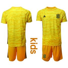 Camiseta España Portero En Amarilla 2020 Edición Copa De Europa Nino Camiseta España Camiseta Atletico De Madrid Camisetas