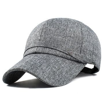 9120aa94f0f Men Cotton Baseball Cap Adjustable Winter Warm Golf Outdoor Sports ...