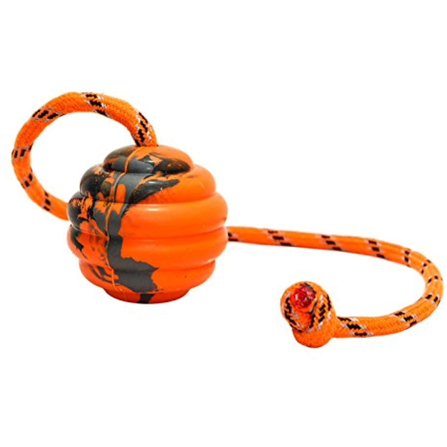 Playfulspirit Durable Natural Rubber Ball On A Rope Perfect Dog