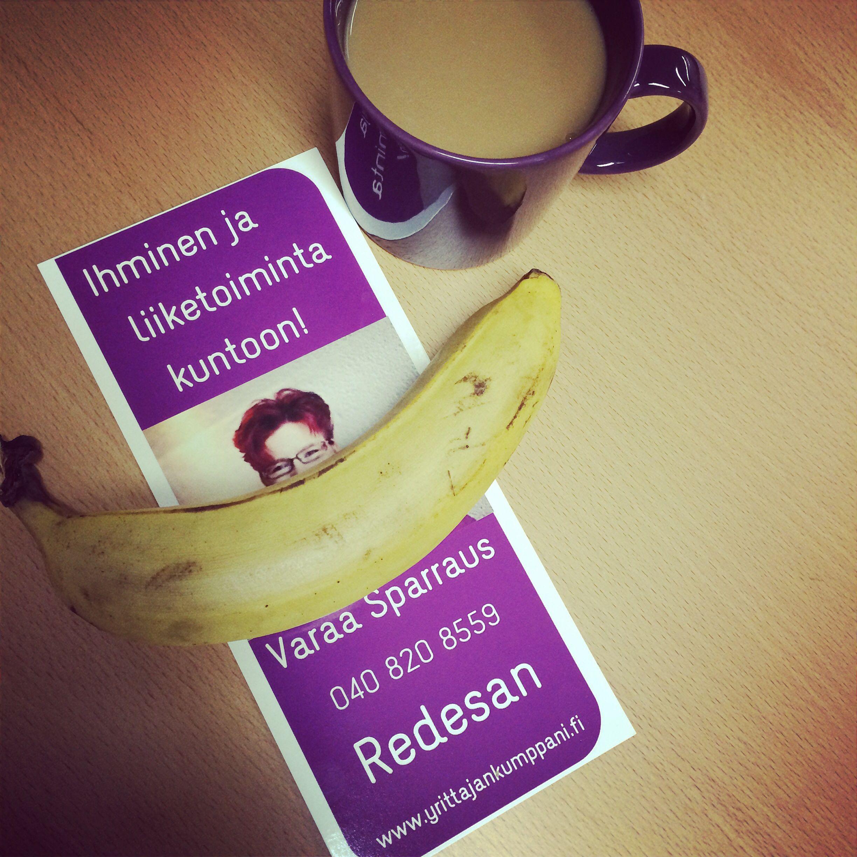 Hymyä banaaniin ja sparraamaan! #yrittäjyys #sparraus