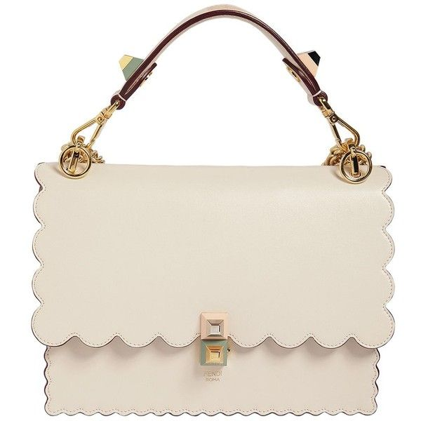 a3637165ef02 Fendi Women Medium Kan I Scalloped Leather Bag ( 2