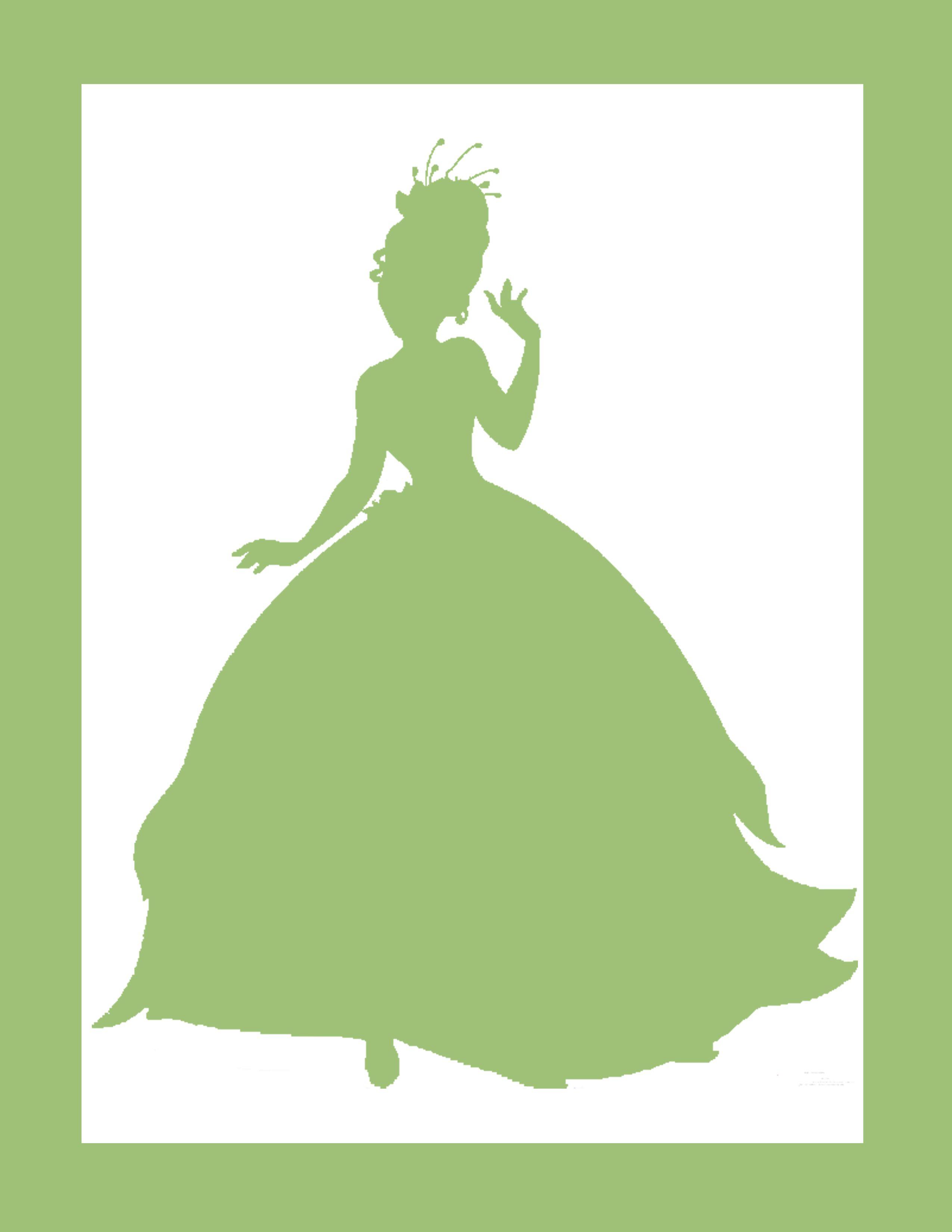 Silhouette Princess Black Tiana