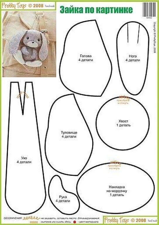 El chanchito verde manualidades : Patrones de conejos (de caricatura ...