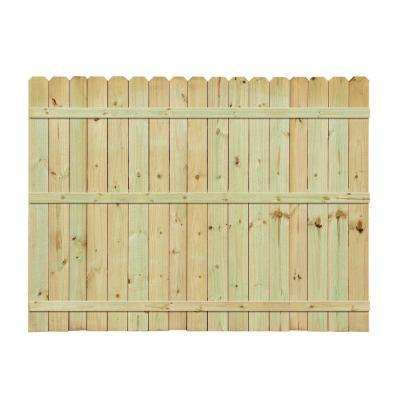 6 ft. H x 8 ft. W PressureTreated Pine DogEar Fence