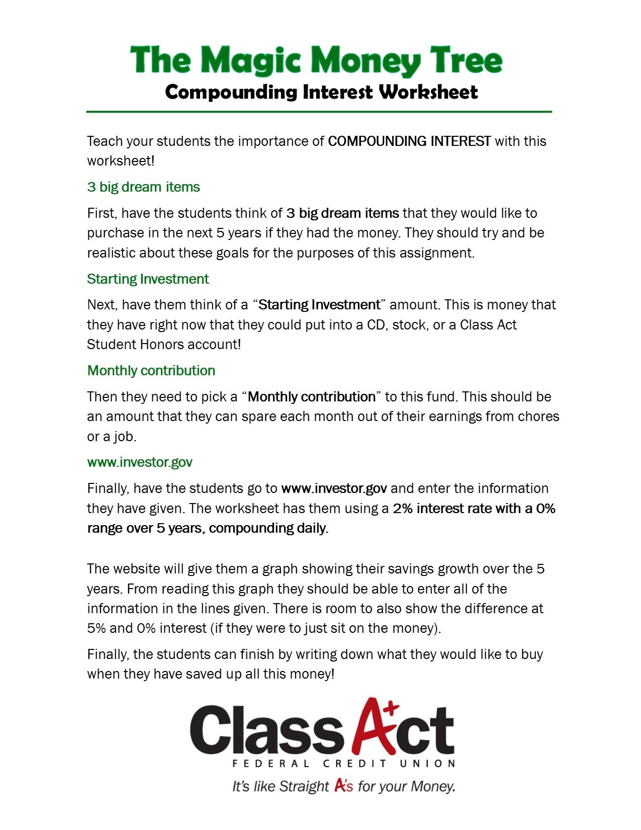 Pin By Class Act Fcu On Classroom Activities