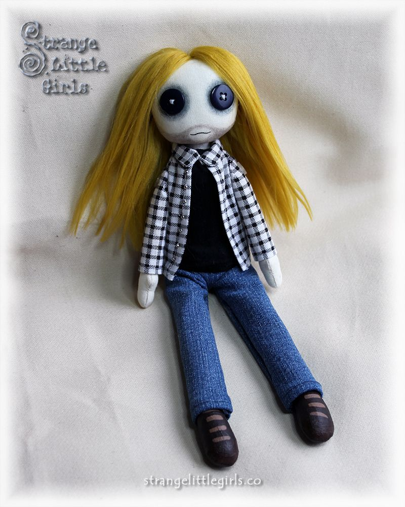 Custom grunge guy cloth art doll. For custom orders, please visit strangelittlegirls.co/commissions