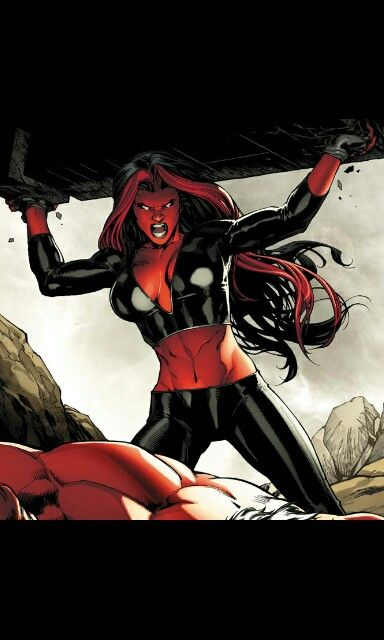 She hulk and red she hulk kiss