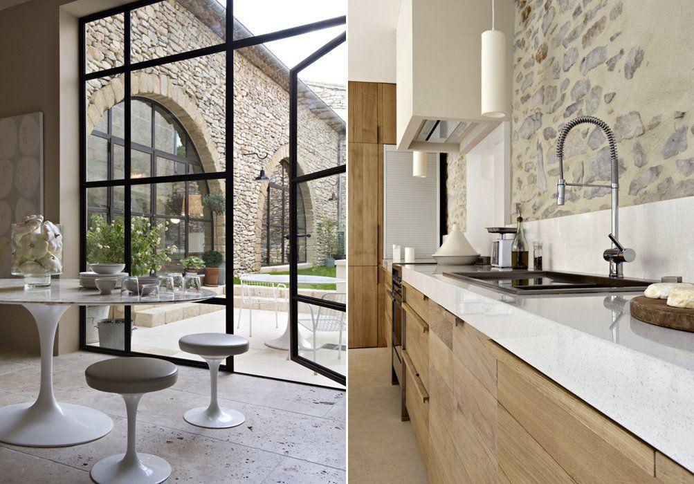Magnífica casa de campo de paredes de piedra | #piedra #design ...