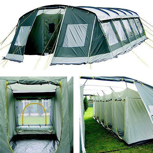 Large 3 4 Person Pop Up Tunnel Tent Waterproof Camping