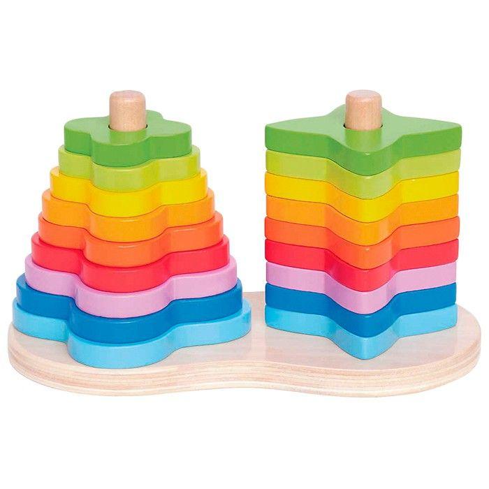Formas Apilable De HapeJuguetes Arco Iris Toys Madera thCxrQds