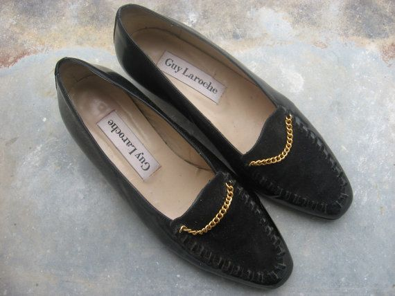 39f8bdb9f9bfa Guy Laroche Vintage Shoes from Paris, France. 1960s 70s Couture ...