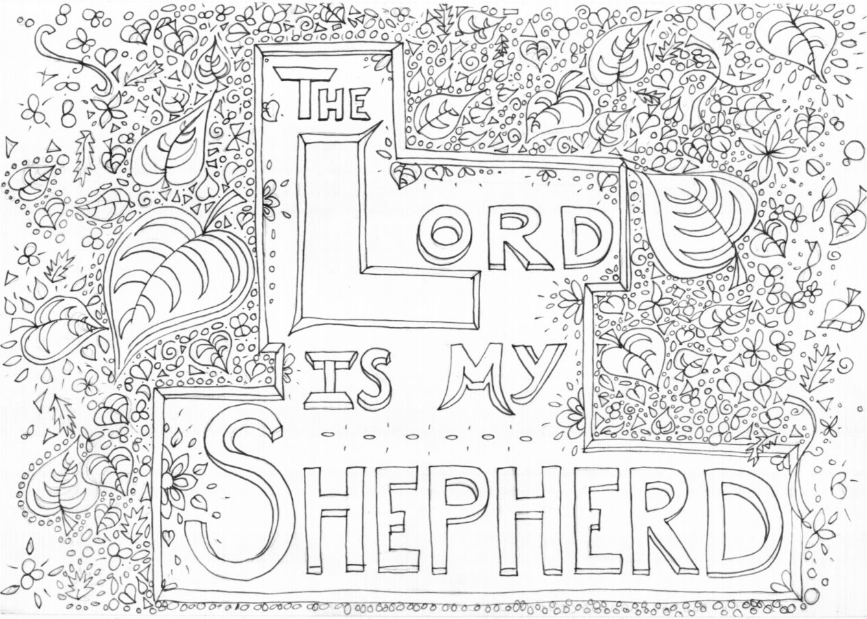 god is my shepherd coloring pages | Pin on Bible Coloring Pages