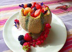 Melon aux Fruits rouges, Sirop léger aux cranberries et à l'hibiscus