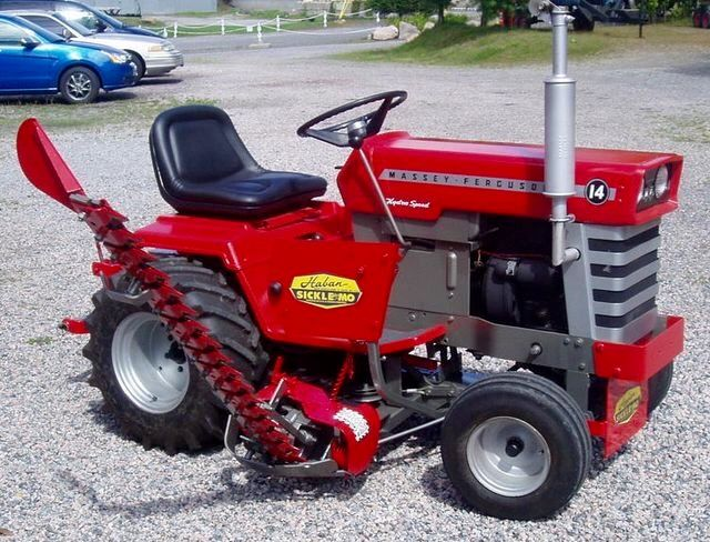 Massey Ferguson 14 W Sickle Mower Yard Tractors Garden Tractor Attachments Small Tractors