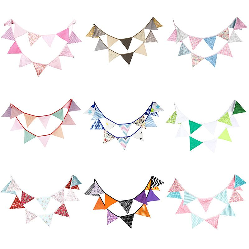 12 Owl Flags 3.2m Fabric String Flags Pennant Bunting Banner Wedding Party Decor