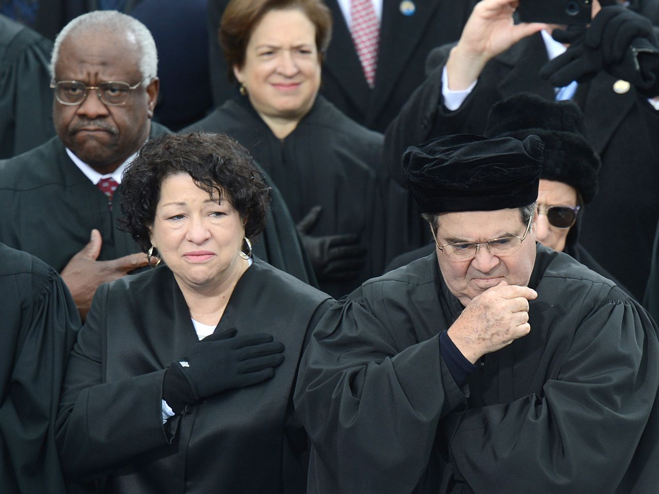 ... Supreme Court. Forget Aretha! Scalia s hat draws attention at 2013  inauguration f0fedf55016