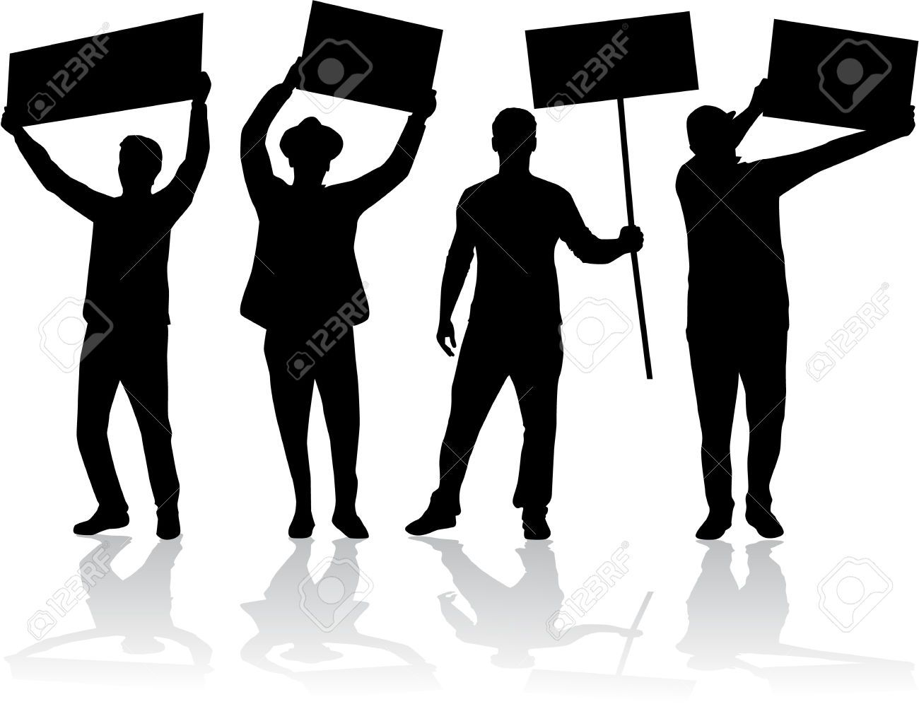 People Protesting Clipart - Free Clip Art Images | Shapes ...