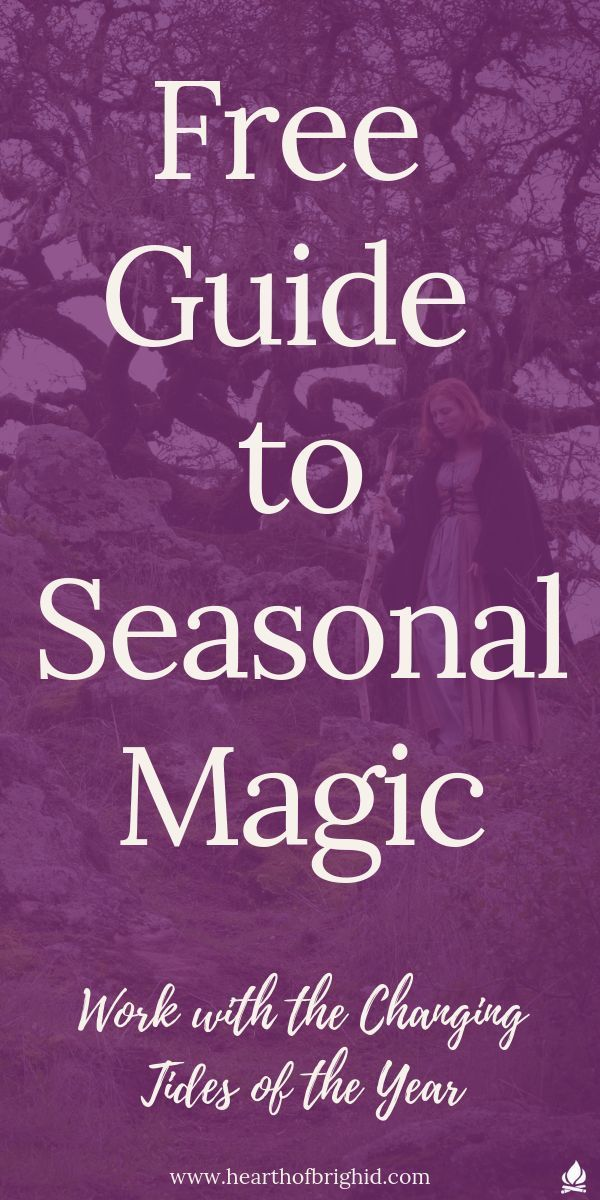 Get your free Traditionalist Witch's Guide to Seasonal Magic    Learn to work with the energies of the seasons to fuel your magic and pack a powerful punch to your witchcraft     #witch #witchcraft #pagan #paganism #magic