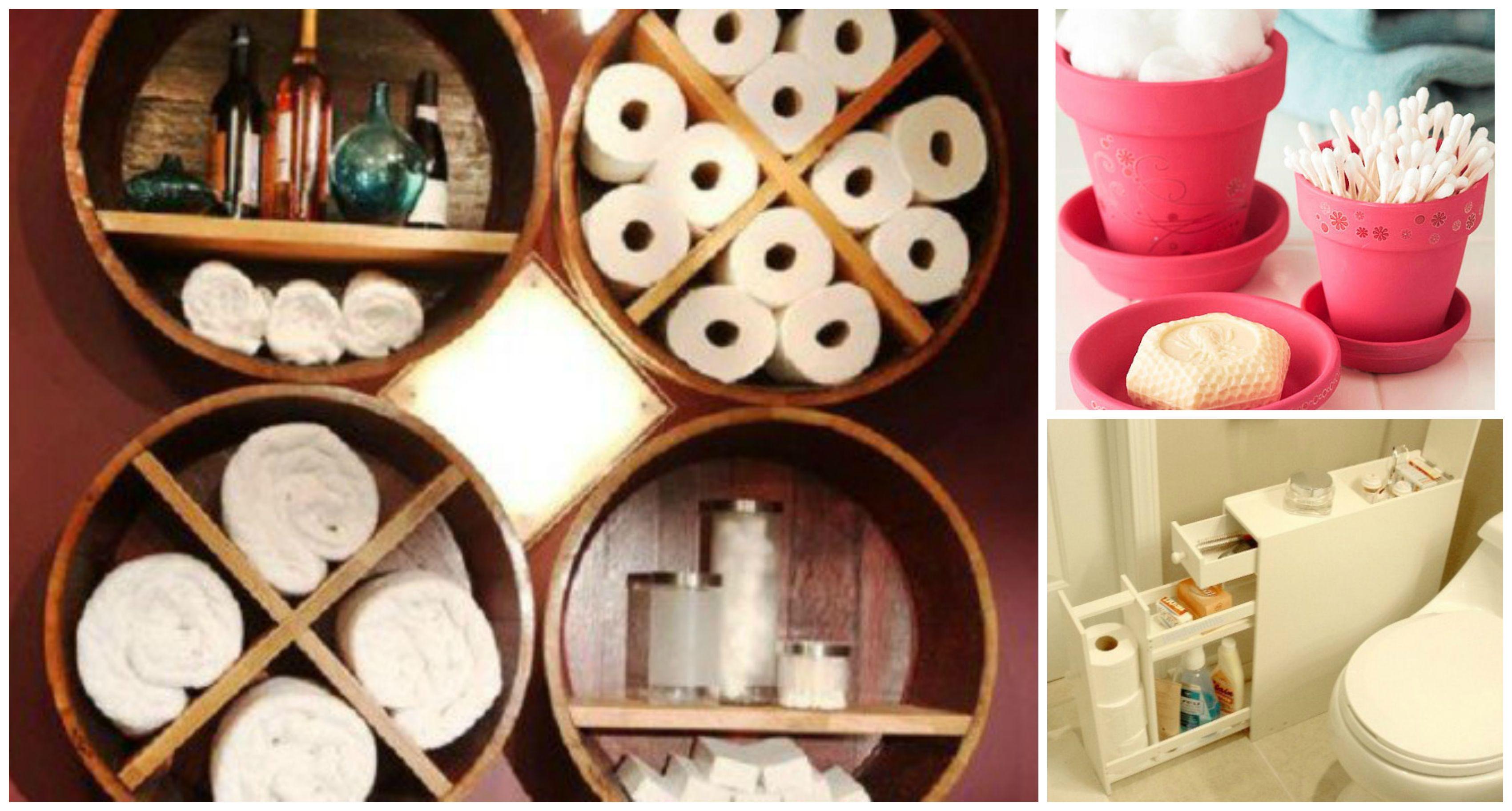 Creative Diy Small Bathroom Storage Ideas Small Bathroom Storage