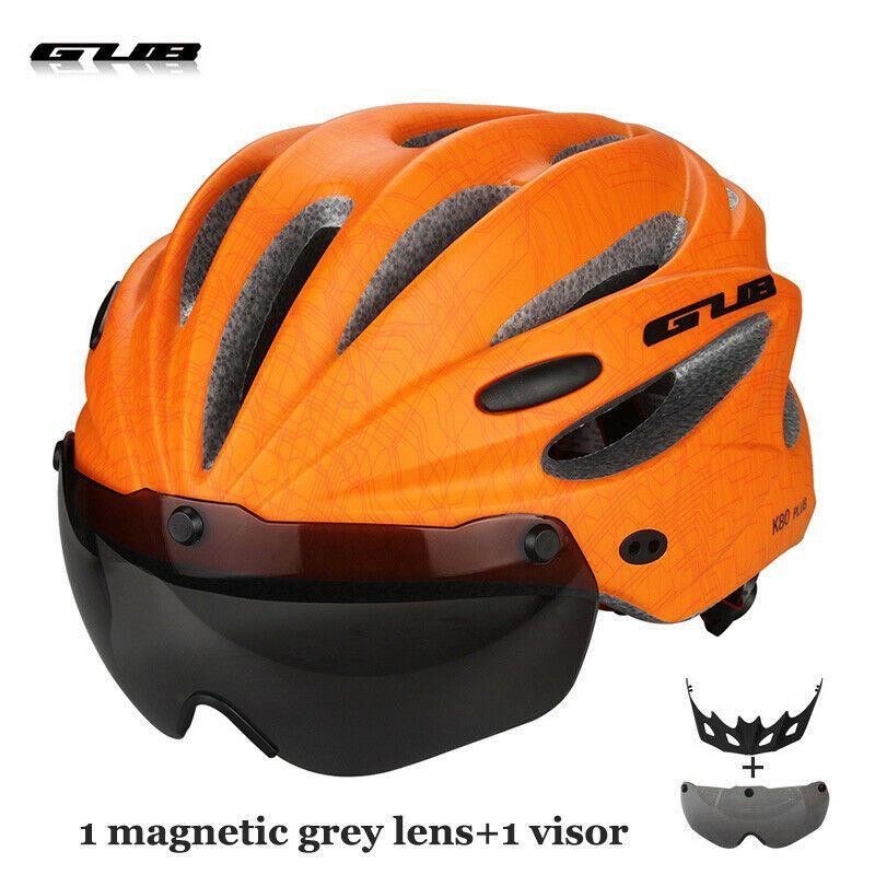Ad Ebay Men Integrally Molded Cycling Helmet With Visor Magnetic