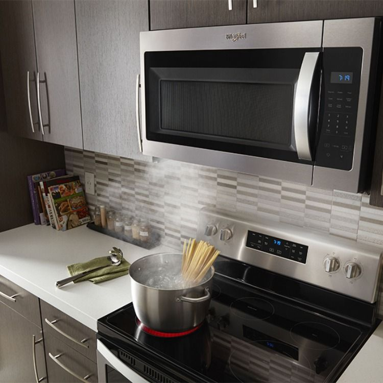 Over The Range Microwave Venting Vs A Dedicated Range Hood Range Microwave Kitchen Remodel Simple Kitchen