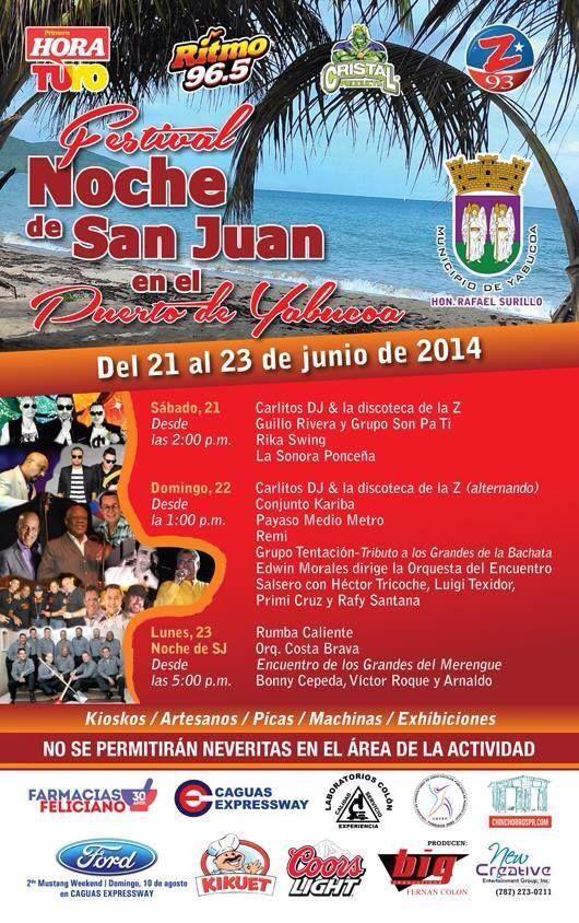 Festival Noche De San Juan En El Puerto De Yabucoa 2014 Noche De San Juan San Juan Puerto Rico