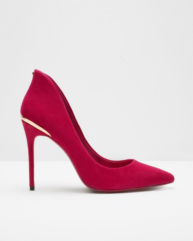 9c3e0b0b3fba Pointed suede court shoes - Deep Pink | Shoes | Ted Baker | Ted ...