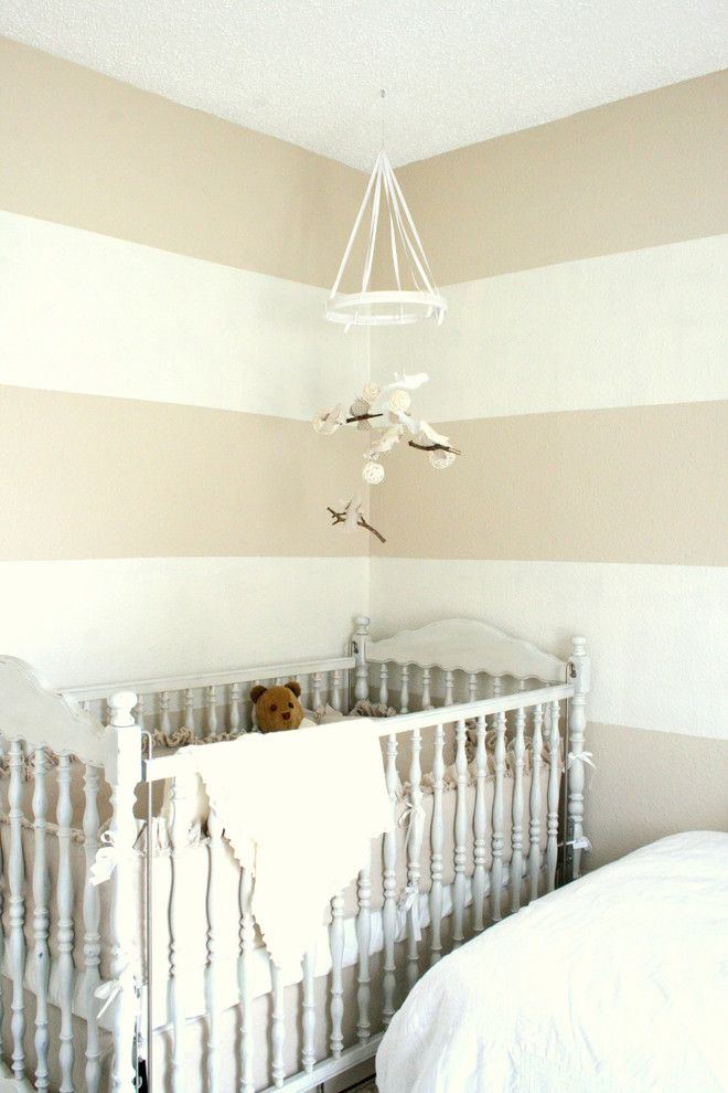 Definitely Stripes In The Baby S Room Striped Walls Blue