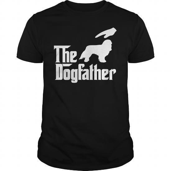 The DogFather english toy spaniel T Shirts, Hoodies Sweatshirts. Check price ==► https://www.sunfrog.com/Pets/The-DogFather-english-toy-spaniel-Black-Guys.html?57074