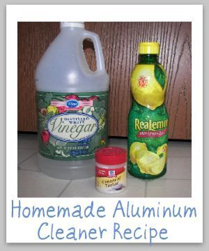 Homemade Aluminum Cleaner Recipes Cleaner Recipes Cleaning Hacks Cleaning