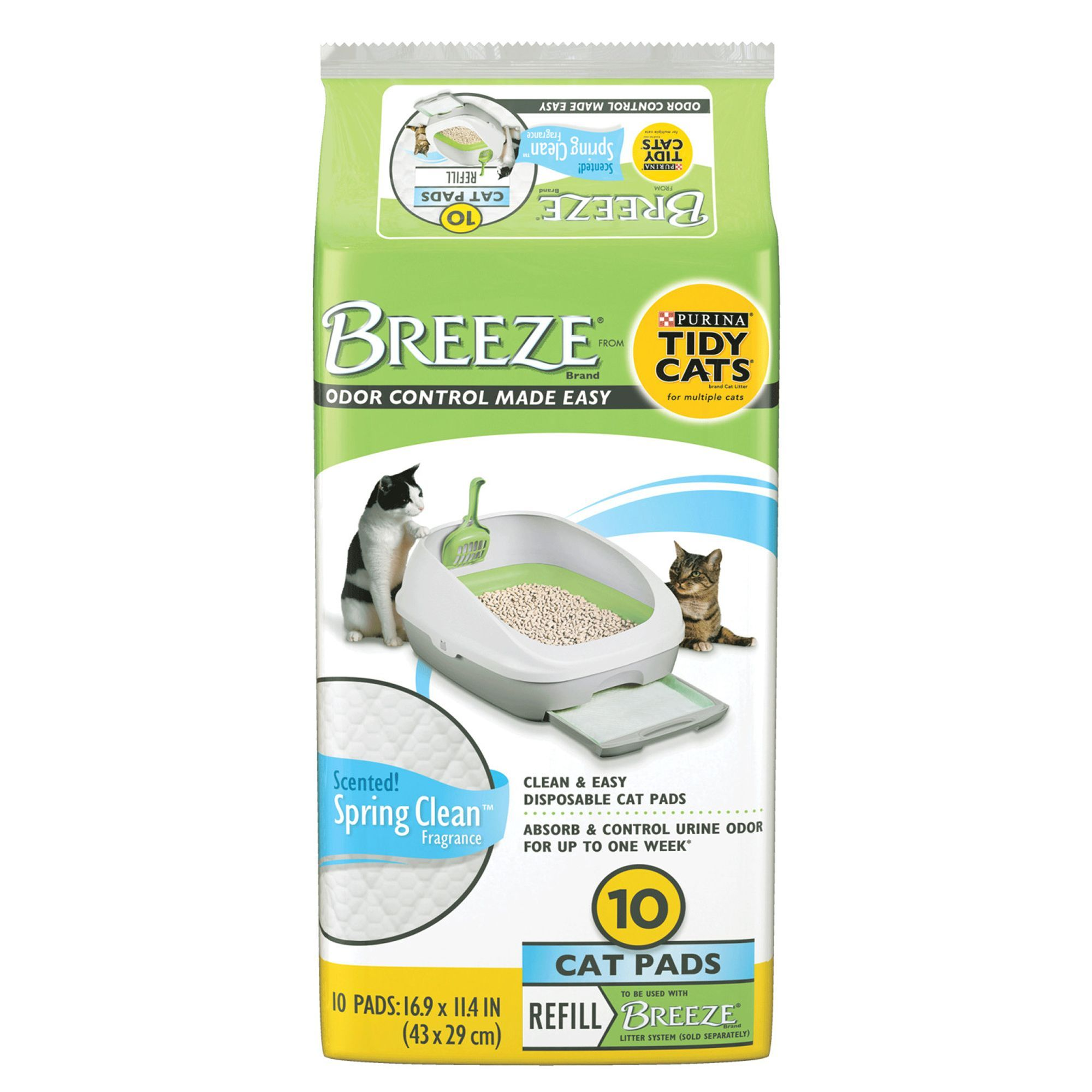 Purina Tidy Cats Breeze Scented Litter Box Pads in 2020