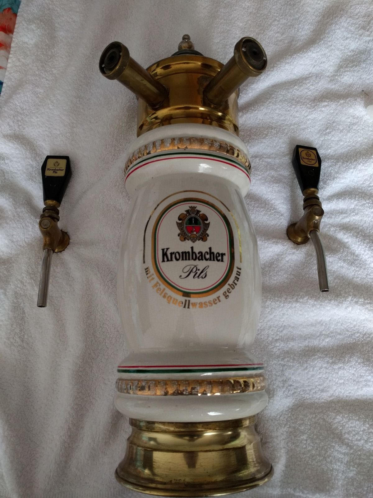 Antique Ceramic German Beer Fountain / Tap / Tower Krombacher Pils ...