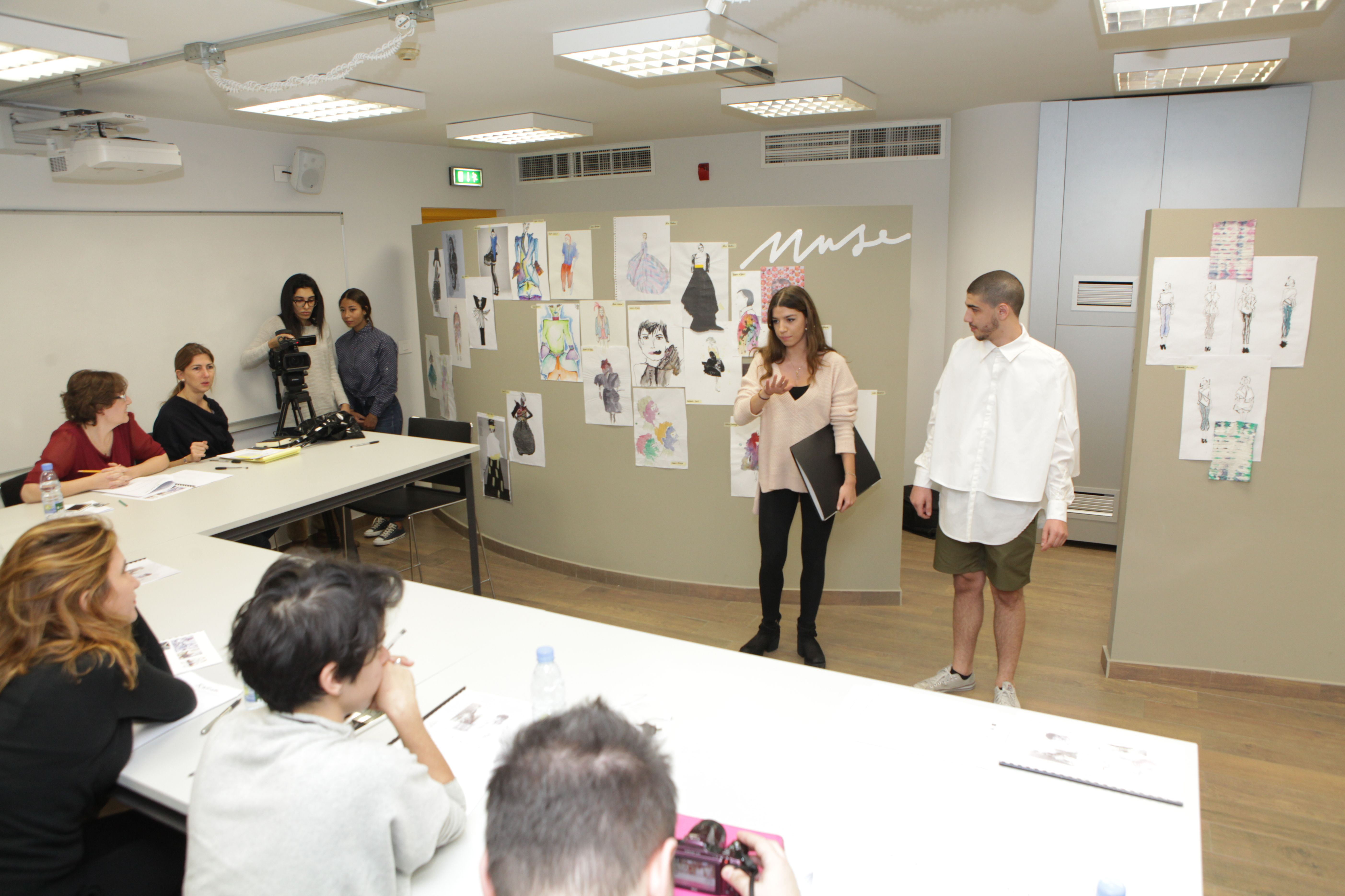 Fashion Design Student Presenting Her Work To The Jury Fashion Design Fashion Design Student