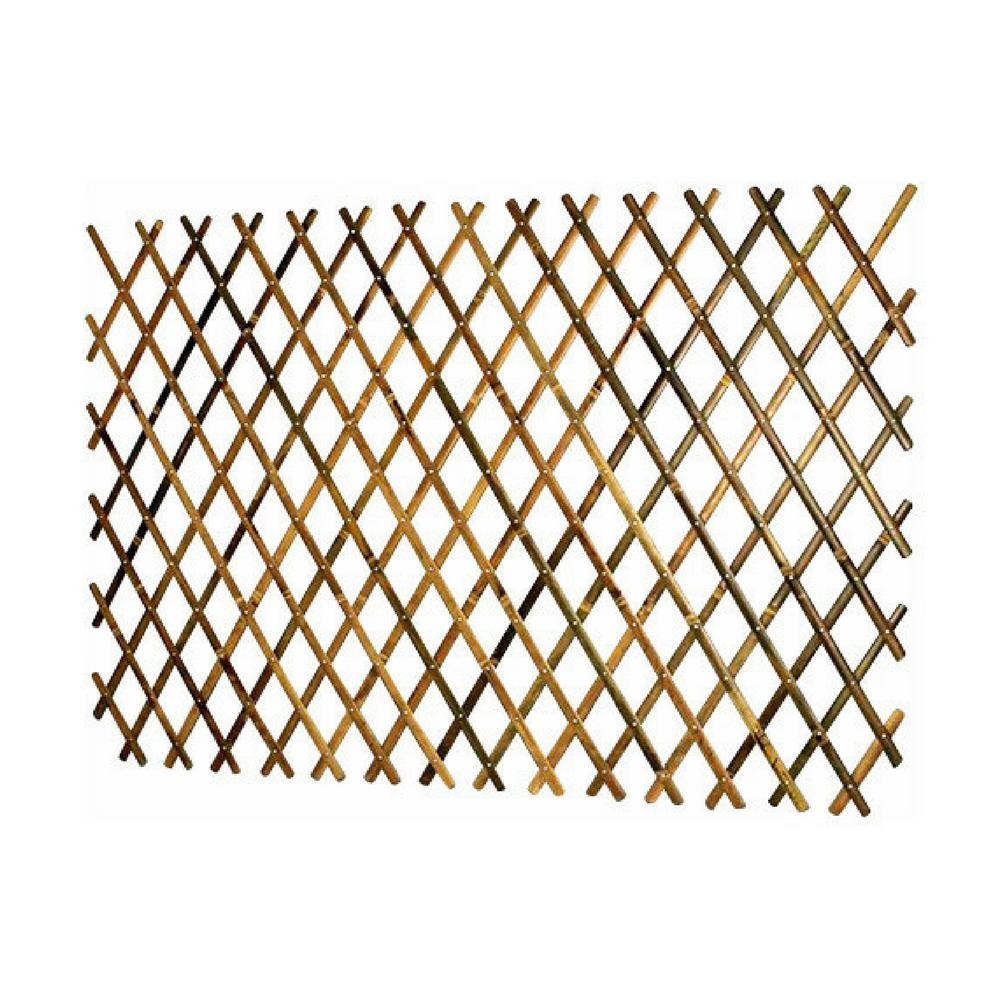Mgp 72 In L X 36 In H Expandable Bamboo Trellis With Aluminum Rivets Bff 36 The Home Depot Bamboo Trellis Trellis Fence Bamboo Poles