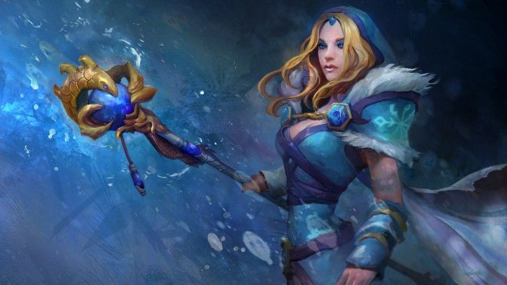 Rylai Crystal Maiden Dota 2 Hd Wallpaper Girl 1920 1080 Recipes To