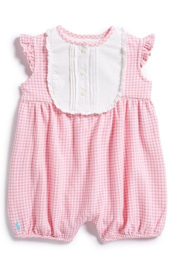 2079b74d Ralph Lauren Gingham Bubble Romper (Baby Girls) available at ...